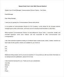 Cover Letters Templates Free 9 Email Cover Letter Templates Free Sample Example Format Cv