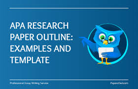 Research Paper Apa Template Apa Research Paper Outline Examples And Template Papersowl Com