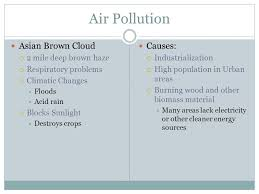 pollution in asia describe the causes and effects of air pollution 2 air pollution
