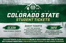 Rocky Mountain Showdown Seating Chart Colorado State University Athletics Online Ticket Office