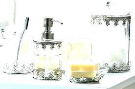marble bathroom accessories sets white 7 piece bath b