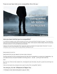 9 real reasons overqualified job seekers are rejected jobmob this is only a preview