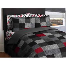 Red Black And Grey Bedroom Savoy Red Black Scroll Reversible King Size Duvet Quilt Cover Set