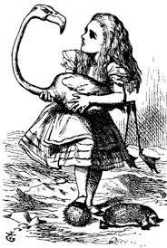 著作権フリー不思議の国のアリス鏡の国のアリス イラスト元祖160