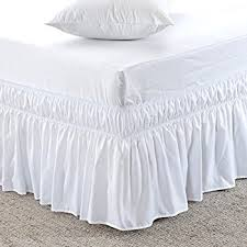 Amazon Wrap Around Style Easy Fit Elastic Bed Ruffles for