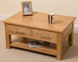 coffee table with drawers. Oslo Solid Oak 2 Drawer Coffee Table, (90 X 43 60 Cm) Table With Drawers