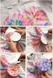 steps for how to make tie dye shirts with markers and rubbing alcohol