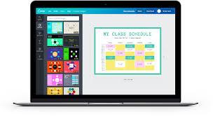Free Online Class Schedules Design A Custom Class Schedule