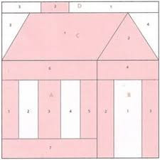 Schoolhouse quilt block paper foundation piecing pattern | Bloques ... & Schoolhouse quilt block paper foundation piecing pattern Adamdwight.com