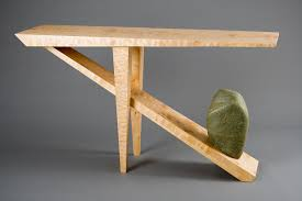 stone hall table. Entry Hall Table Console Made From Wood And Stone By Seth Rolland Custom Furniture Design. 〉 U
