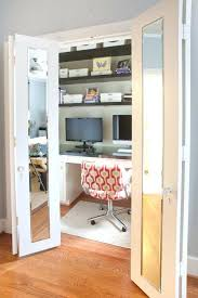 Office closet design Modern Office Closet Design Ideas Love The Desk In The Closet Idea But Especially Love The Beveled Mirrors On The Doors Home Office Closet Design Ideas Gabkko Office Closet Design Ideas Love The Desk In The Closet Idea But