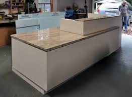 a commercial reception desk