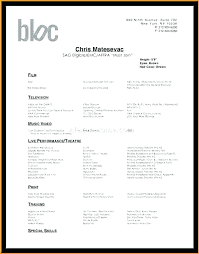 Audition Resume Template Mesmerizing Dance Resume Template Audition Resumes Co Teacher Child Theatre