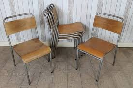 school chairs stacked. Brilliant Chairs Vintage Stacking School Chairs Schools Post 1940s  And Stacked