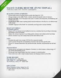 sales-clerk-functional-resume-example