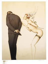 michael parkes a gift for the disillusioned man original hand pulled stone lithographs