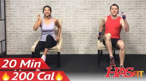 20 min chair exercises sitting down workout seated exercise for seniors elderly everyone else you