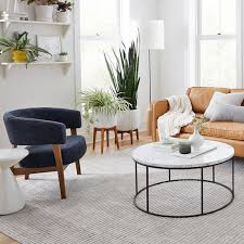 streamline round coffee table marble