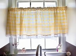 Kitchen Curtains Yellow Green And Yellow Plaid Kitchen Curtains Cliff Kitchen