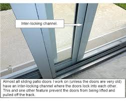 how to unlock a sliding glass door from the outside patio doors lock wont