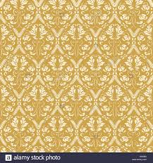 Gold Damask Background Seamless Floral Damask Background Gold Vector Stock Vector