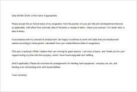 Formal Resignation Letter Example 16 Formal Resignation Letter Templates Pdf Doc Free