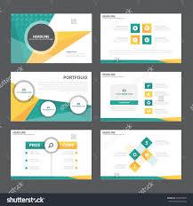 Design Presentation Templates Green Orange Presentation Template Infographic Elements Flat