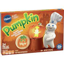 If you decide to put icing on the cookies then this would be the time. Pillsbury Ready To Bake Pumpkin Shape Sugar Cookies 11 0 Oz Walmart Com Walmart Com