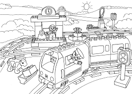 Small Picture Lego Interest Lego Train Coloring Pages at Children Books Online