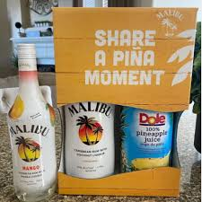this malibu rum and dole pineapple