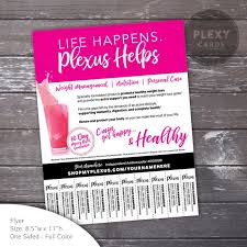 Flyer With Phone Number Tabs Plexus Contact Flyer With Tear Off Tabs Digital File