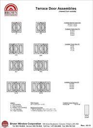 Terrace Door Window Size Chart From Brown Window Corporation