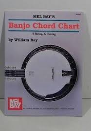 Mel Bays Banjo Chord Chart 5 String G Tuning By William