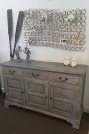 Annie Sloan Chalk Paint Paris Grey dresser buffet makeover