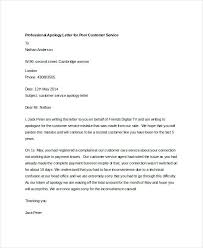 Apologize Business Letter Business Apology Letter For Delay In Service To Customer Poor