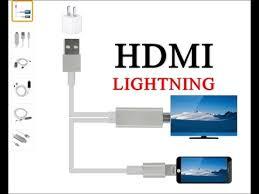 кабель hdmi lightning для подключения к телевизору ipad iphone