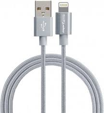 <b>Дата</b>-<b>кабель Smarterra STR-AL002M 8-pin</b> Apple Lightning MFI Silver