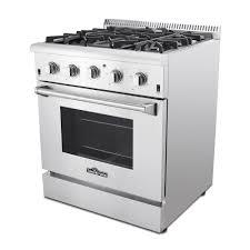 Gas Kitchen Ranges Thor Kitchen Hrg3080u 30 In Professional Stainless Steel Gas Range
