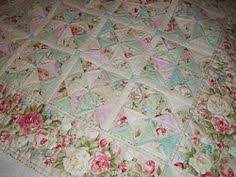 shabby chic quilts | Vintage Quilt. Shabby Chic. Dresden Plate ... & Shabby Chic Quilt Patterns Free - Bing Images Adamdwight.com