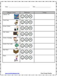 Individual Behavior Chart Classroom Behavior Kindergarten