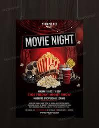 Free Movie Night Flyer Templates Movie Night Free Psd Flyer Template Free Psd Flyer