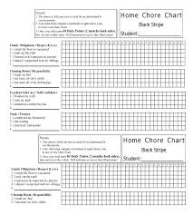 Printable Family Chore Chart Template Free Printable Chore Charts With Blank Daily Chart Inside Template
