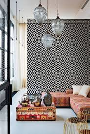 ... Black and white with earth hues - modern moroccan home decor ...