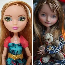 take a look at the side by side images of the same doll that