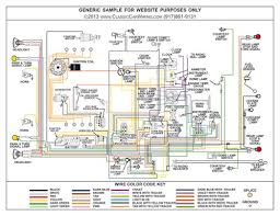 1953 1954 1955 chevy corvette (6 cyl) color wiring diagram 1955 chevy turn signal wiring diagram at 55 Chevy Wiring Diagram