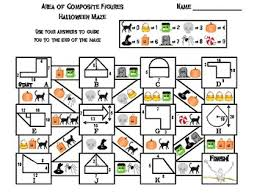 Area Of Composite Figures Game Halloween Math Maze By Science Spot