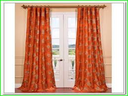 burnt orange curtains and ds