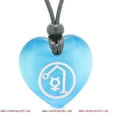 archangel raphael sigil magic planet energy amulet puffy heart pendant necklace etwqibj1