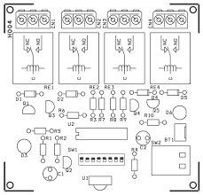 channel infrared remote relays electronics lab pcb