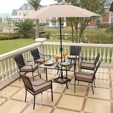 home trends outdoor furniture. Delighful Trends Hometrends Braddock Heights 7Piece Woven Dining Set In Home Trends Outdoor Furniture Walmart